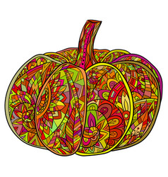 pop art doodle of pumpkin with a boho vector image vector image