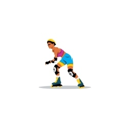 Roller skating girl sign vector image vector image