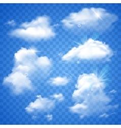 Transparent Clouds On Blue vector image