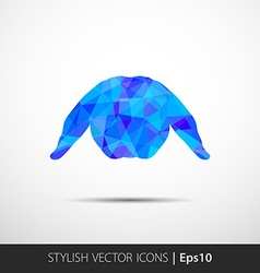 Abstract Rabbit low polygonal vector image