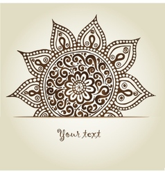 Beautiful vintage ornament Mandala vector image