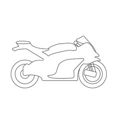 bike flat icon and logo outline vector image