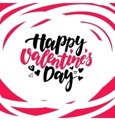 Happy Valentine s Day lettering Isolated vector image