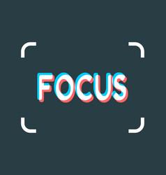 Photo camera focusing screen vector