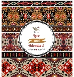 Seamless colorful pattern in aztec style vector image vector image