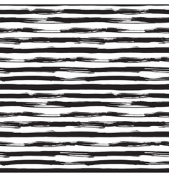 seamless pattern with black brush strokes vector image