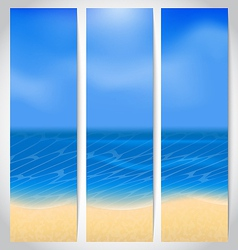 Set cards with summer holiday background vector image