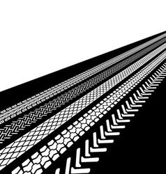tire prints vector image vector image