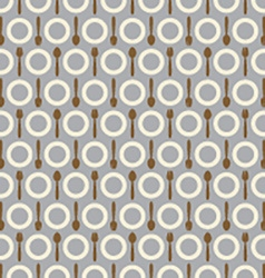 Utensil Pattern Background vector image vector image