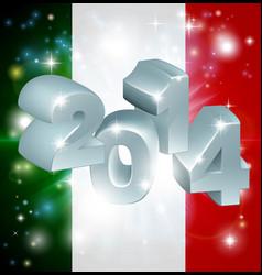 2014 italian flag vector image