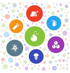 7 bomb icons vector