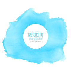 abstract blue watercolor stain background vector image