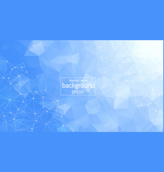 Abstract white bkue polygonal space background vector