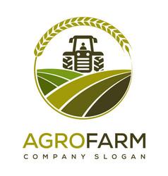 Agro farm logo design vector