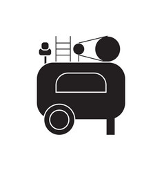 air compressor black concept icon air vector image