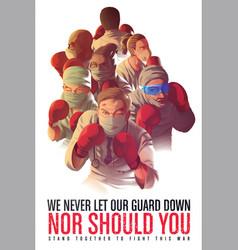 Awareness poster to encourage healthcare workers vector