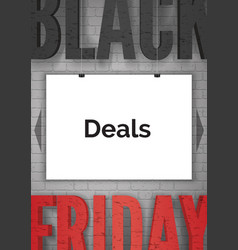 black friday advertising realistic web vector image