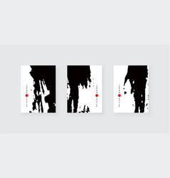 black ink brush stroke on white background vector image
