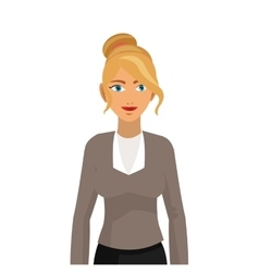 Blonde business woman icon vector