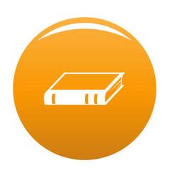 book biology icon orange vector image