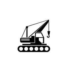 Building crawler crane flat icon vector