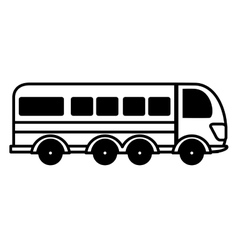 Bus public transport isolated icon vector