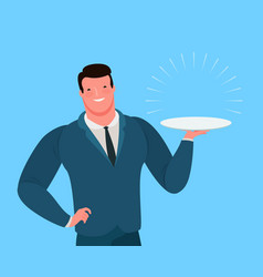 businessman or seller offers a profitable business vector image