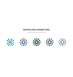 centralized connections icon in different style vector image