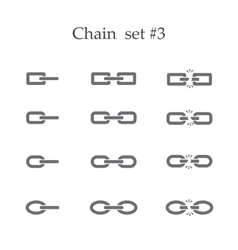 Chain set three vector