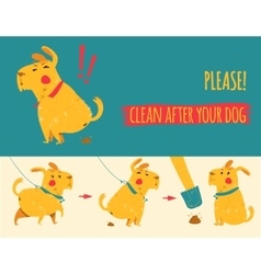 Clean after your dog vector image