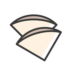 Coffee filter coffee related filled style vector