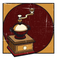 coffee mill grunge vector image