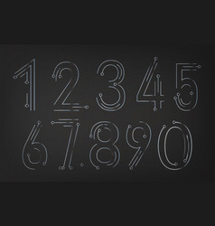 collection of abstract numbers vector image