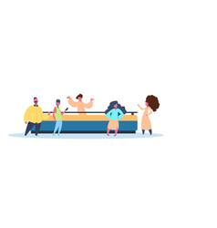 coworking place creative work room people concept vector image