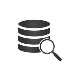 database server isolated flat web mobile icon vector image