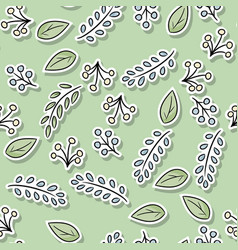 Decorative floral seamless pattern with leaves vector