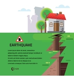 Earthquake Insurance Colourful vector image