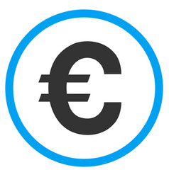 Euro symbol rounded icon vector