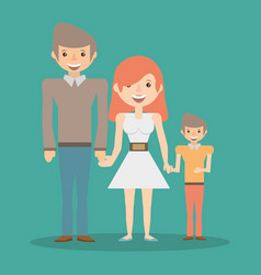 family smiling together relation vector image