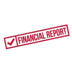 Financial Report rubber stamp vector