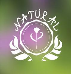 Floral emblem design vector image