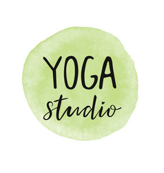 For an yoga studio vector