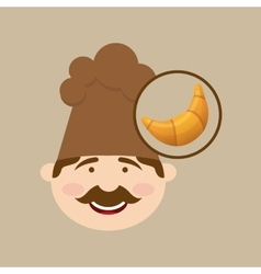 french croissant baker vector image
