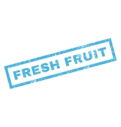 Fresh Fruit Rubber Stamp vector