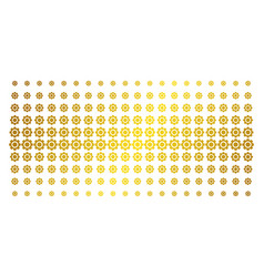 gear gold halftone matrix vector image