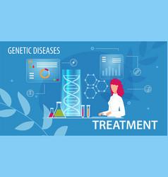 genetic disease treatment flat medical poster vector image