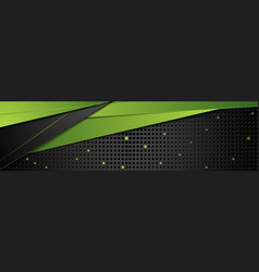 green and black abstract corporate banner design vector image