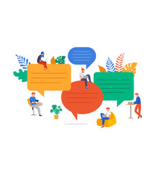 group of young people communication in search vector image