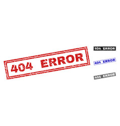 grunge 404 error scratched rectangle stamps vector image