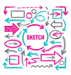 Hand draw sketch vector